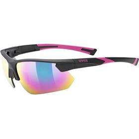 UVEX Sportstyle 221 Sportbrille black pink/mirror pink